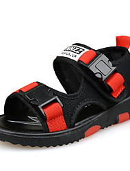 cheap -Boys' Shoes Tulle Summer Comfort Sandals Magic Tape for Black / Red