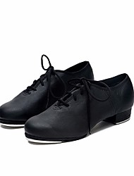 cheap -Women's Tap Shoes Cowhide Oxford / Heel Chunky Heel Dance Shoes Black / Performance / Practice