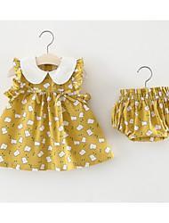 cheap -Baby Girls' Geometric / Galaxy Sleeveless Clothing Set