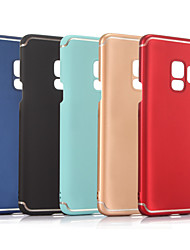 baratos -Capinha Para Samsung Galaxy S9 / S9 Plus Áspero Capa traseira Sólido Rígida PC para S9 Plus / S9 / S8 Plus