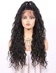 economico -Capello integro Lace frontale Parrucca Brasiliano Ondulato Parrucca 130% Con i capelli del bambino / Attaccatura dei capelli naturale / Parrucca riccia stile afro Per donna Corto Parrucche di capelli