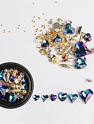 billiga -1 pcs Nagelsmycken Crystal / Rhinestone Style nagel konst manikyr Pedikyr Dagliga kläder Strass / Nail Smycken