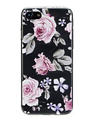 Недорогие -Кейс для Назначение Apple iPhone X / iPhone 7 Ультратонкий / С узором / Милый Кейс на заднюю панель Цветы Мягкий ТПУ для iPhone X / iPhone 8 Pluss / iPhone 8