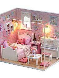 Недорогие -Кукольный домик обожаемый Своими руками Ручная работа Мебель Лошадь Креатив деревянный 1 pcs Детские Взрослые Девочки Игрушки Подарок