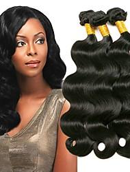 baratos -3 pacotes Cabelo Indiano Ondulado Não processado / 100% Remy Hair Weave Bundles Presentes / Extensor 8-28 polegada Tramas de cabelo humano Fabrico à Máquina Clássico / Feminino / Natural Côr Natural