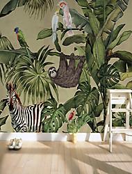 abordables -fond d'écran / Mural Toile Revêtement - adhésif requis Décoration artistique / Arbres / Feuilles / Motif