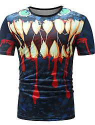 baratos -Homens Camiseta Básico Floral