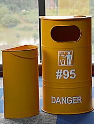 cheap -Metal Rectangle Creative / Cool Home Organization, 1pc Trash Cans