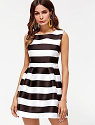 economico -Per donna Fodero Vestito Mini In bianco e nero