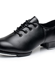 cheap -Men's Tap Shoes Cowhide Oxford Chunky Heel Dance Shoes Black / Performance / Practice