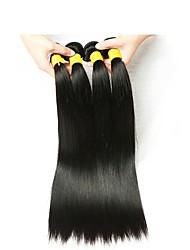Недорогие -4 Связки Индийские волосы Прямой Натуральные волосы Человека ткет Волосы / Накладки из натуральных волос Ткет человеческих волос Лучшее качество / Новое поступление / Для темнокожих женщин