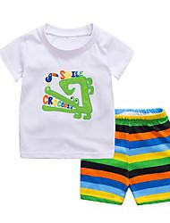 Недорогие -Дети / Дети (1-4 лет) Мальчики Пэчворк С короткими рукавами Набор одежды