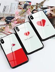 economico -Custodia Per Apple iPhone X / iPhone 8 Plus Fantasia / disegno / Adorabile Per retro Con cuori Resistente Vetro temperato per iPhone X /