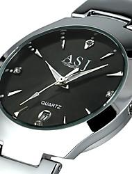 cheap -ASJ Men's Wrist Watch / Dress Watch Chinese Calendar / date / day Alloy Band Luxury Black / White