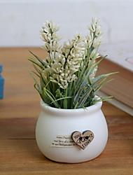 cheap -Artificial Flowers 1 Branch Rustic Lavender Tabletop Flower