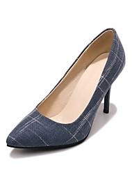 Недорогие -Жен. Обувь Ткань Весна / Осень Удобная обувь Обувь на каблуках На шпильке Заостренный носок Черный / Коричневый / Синий