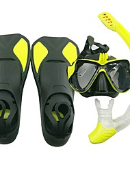 cheap -Snorkeling Set Water Resistant / Water Proof, Easily Adjustable, Windproof Diving, Snorkeling, Beach Glasses, Silicone, PC (Polycarbonate)