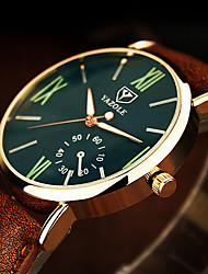 cheap -Men's Wrist Watch / Dress Watch Chinese Noctilucent Leather Band Casual / Minimalist Brown