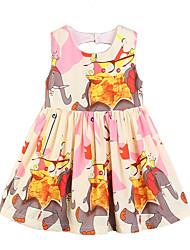 cheap -Toddler Girls' Print Sleeveless Dress