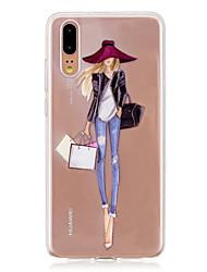 cheap -Case For Huawei P20 / P20 lite Translucent Back Cover Sexy Lady Soft TPU for Huawei P20 / Huawei P20 Pro / Huawei P20 lite