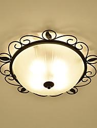 cheap -3-Light Flush Mount Ambient Light - Eye Protection, 110-120V / 220-240V Bulb Not Included / 5-10㎡ / E26 / E27