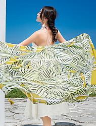 Недорогие -Высшее качество Пляжное полотенце, Геометрический принт / Цветочные / ботанический Полиэстер / Хлопок 1 pcs