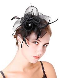 Недорогие -Жен. Kentucky Derby Мода Элегантный стиль Головные уборы шляпа Свадьба Для вечеринок - Однотонный / Все сезоны