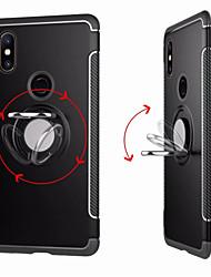 abordables -Coque Pour Xiaomi Xiaomi Mi Mix 2S / Mi 5X Anneau de Maintien Coque Couleur Pleine Dur PC pour Xiaomi Mi Mix 2 / Xiaomi Mi Mix 2S / Xiaomi Mi 6
