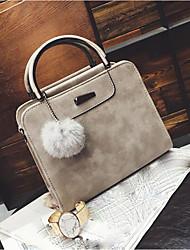 cheap -Women's Bags PU Tote Pom-pom Blushing Pink / Gray / Wine