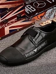 Недорогие -Муж. обувь Кожа Осень Удобная обувь Мокасины и Свитер для на открытом воздухе Черный Красный