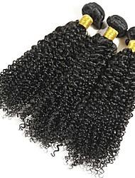Недорогие -3 Связки Малазийские волосы Кудрявый Натуральные волосы Накладки из натуральных волос Естественный цвет Ткет человеческих волос Удлинитель Расширения человеческих волос Все
