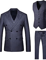 cheap -Men's Business Casual Slim Suits-Striped Notch Lapel / Please choose one size larger according to your normal size. / Long Sleeve