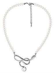 abordables -Femme Pendentif de collier - Perle, Imitation de perle Mode, Elégant Argent 40+5 cm Colliers Tendance 1pc Pour Mariage, Sortie
