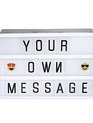 cheap -1pc Lightbox Letter Light Box White AA Batteries Powered / USB Creative / with Letters Cards / DIY Free Combination