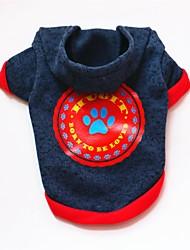 abordables -Chiens / Chats / Animaux de Compagnie Sweatshirt Vêtements pour Chien Avec motifs / Citations & Dictons / Bande dessinée Bleu Coton