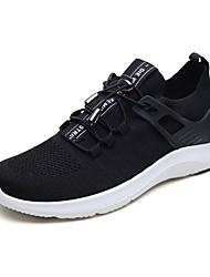 povoljno -Muškarci Cipele Pletivo / Til Jesen Svjetleće tenisice / Udobne cipele Atletičarke tenisice Trčanje Crn / Sive boje