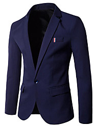 cheap -Men's Business / Basic Blazer - Solid Colored