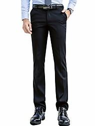 cheap -Men's Cotton Suits Pants - Solid Colored