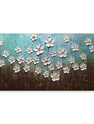 cheap -STYLEDECOR Modern Hand Painted Abstract The Small White Flowers Oil Painting on Canvas for Wall Art