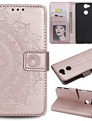 Недорогие -Кейс для Назначение Sony Xperia L2 / Xperia L1 Кошелек / Бумажник для карт / Флип Чехол Цветы Твердый Кожа PU для Sony Xperia Z3 / Sony Xperia Z5 / Xperia XA2