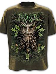 baratos -Homens Camiseta Exagerado Moda de Rua Estampado, Estampa Colorida Retrato Animal