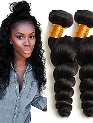 cheap -Malaysian Hair Wavy Human Hair Extensions 4 Bundles Human Hair Weaves Extention / Hot Sale Natural Black Human Hair Extensions All