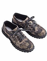 Недорогие -Муж. обувь Кожа Весна Удобная обувь Кеды для Офис и карьера на открытом воздухе Серый Зеленый
