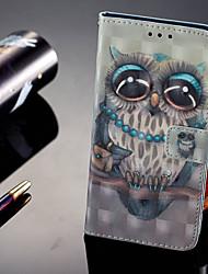 Недорогие -Кейс для Назначение Huawei P20 Pro / P20 lite Кошелек / Бумажник для карт / со стендом Чехол Сова Твердый Кожа PU для Huawei P20 / Huawei P20 Pro / Huawei P20 lite
