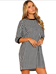 cheap -women's going out slim a line dress - color block low waist mini