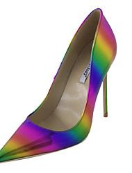 baratos -Mulheres Sapatos Couro Ecológico Outono Plataforma Básica Saltos Salto Agulha Dedo Apontado para Festas & Noite Arco-íris