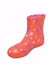 baratos -Mulheres Sapatos Borracha Outono Botas de Chuva / Conforto Botas Salto Baixo para Vermelho / Verde