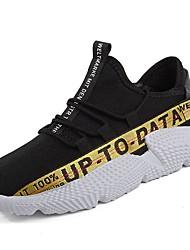 abordables -Homme Chaussures Tricot / Matières Personnalisées / Tissu Printemps / Automne Confort Chaussures d'Athlétisme Course à Pied Noir et Or /