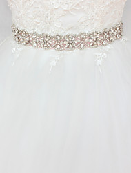 cheap -Satin / Tulle Wedding / Party / Evening Sash With Imitation Pearl / Crystals / Rhinestones Women's Sashes