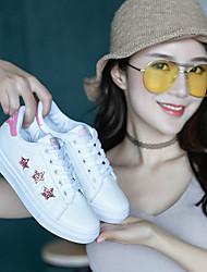 baratos -Mulheres Sapatos Courino Verão Conforto Tênis Sem Salto para Ao ar livre Vermelho / Verde / Azul